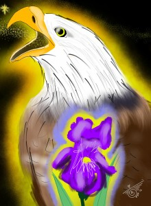 Eagle with Iris in Great Darkness, OutlawBunny.