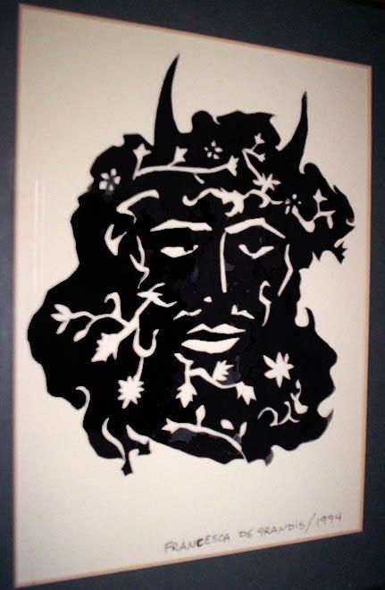 Papercutting, Horned God, FDG, 1994