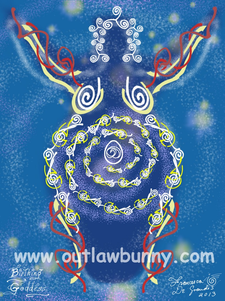 If you would like this Goddess image on your altar, click on it to go to my shop. There, you will also find an essay I wrote, because painting Her brought up a lot for me.