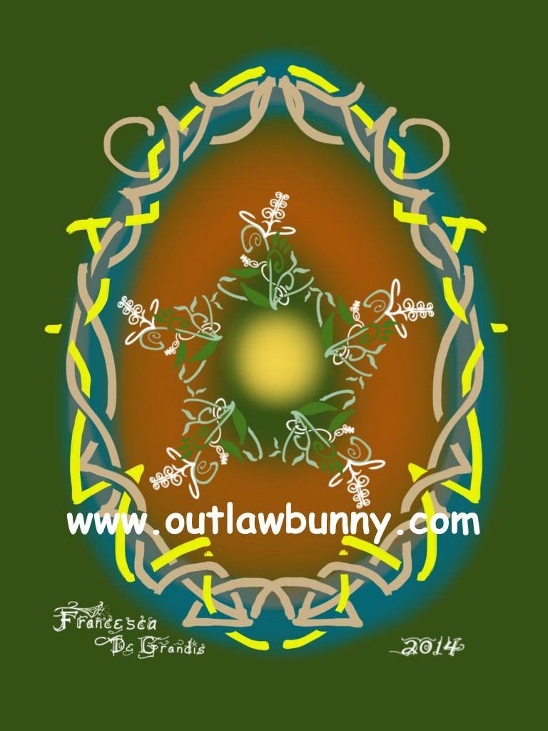Ostara Egg Cosmic Egg—Abundance and Chaos Meditation. If you would like this on your altar, click on it to go to my shop.